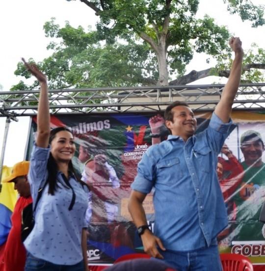 3.Fabiola D' Córdoba, próxima Primera Combatiente de Guárico y su esposo, el candidato de las fuerzas revolucionarias a la Gobernación de Guárico, José Vásquez